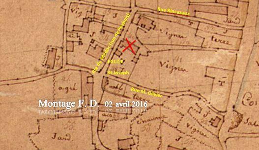 QUARTIER DE CACHAC, Plan du 12 brumaire an II ou 02 novembre 1793.