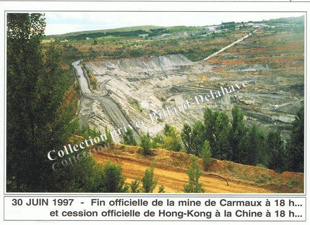 30 juin 1997-Fin officielle de la mine de Carmaux 18h...