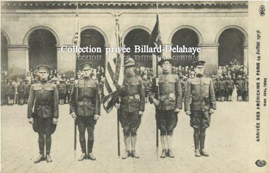 Guerre 1914/1918-  SOLDATS AMERICAINS-  Arrivée en France.