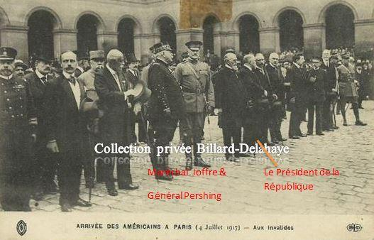 Guerre 1914/1918 -  SOLDATS AMERICAINS LE 4 JULLET 1917 AUX INVALIDES A PARIS