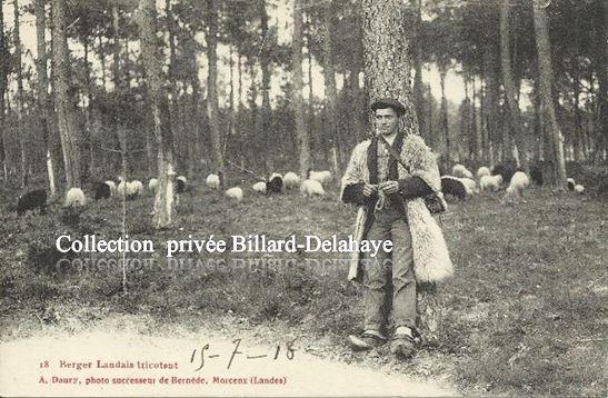 18 - BERGER LANDAIS TRICOTANT.Env. du 15.07.1918. QUELLE PAIX !