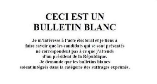 BULLETIN BLANC CIRCULANT SUR LES RESEAUX SOCIAUX - LIKE ?