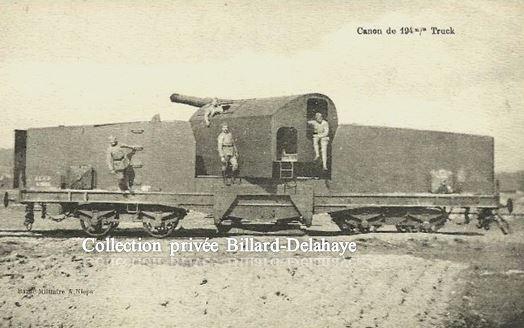 Guerre 1914/1918 - EN FRANCE - CANON de 194 mm TRUCK.