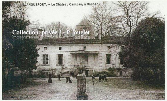 CHATEAU CAMPAU A CACHAC DEBUT DU XXe siècle. Rue de Campot.