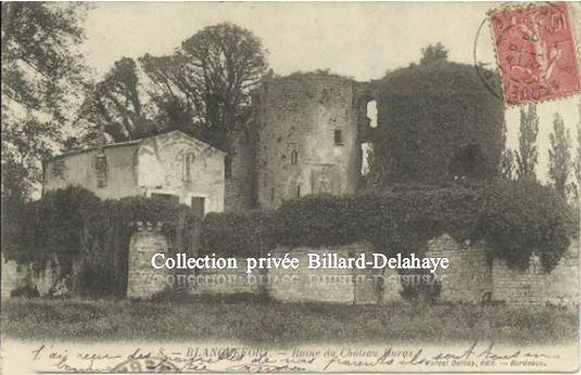 Château DURAS  Ruines vers 1900.
