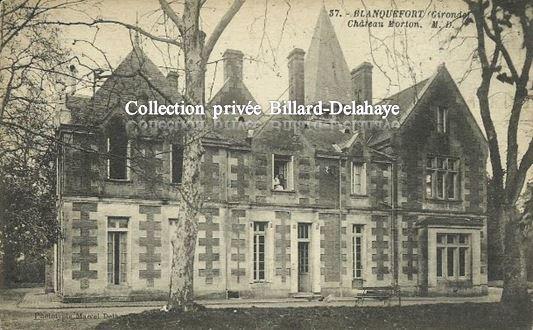 Château MORTON  CAYCHAC - Actuel Terminus Liane 6 vers 1950.