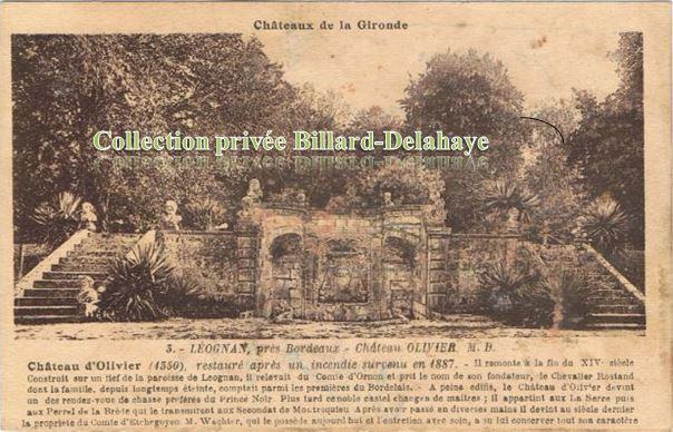 Château OLIVIER à LEOGNAN,1350.Rendez-vous de chasse du Prince Noir.
