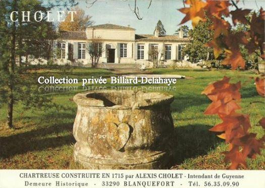 Domaine de CHOLET - 33290 BLANQUEFORT - C'était avant.