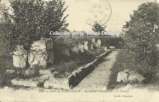 FORET de COMPIEGNE le 22.10.1914 - Ruines de Champlieu le Temple