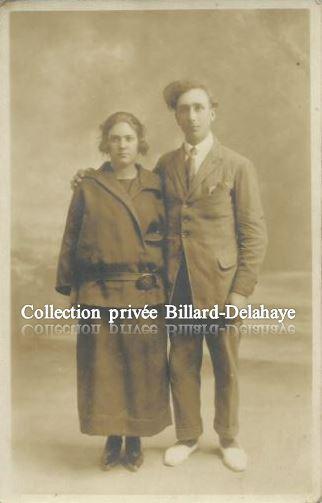 JEUNE COUPLE PAUVRE PENDANT LA GUERRE de 1914-1918;