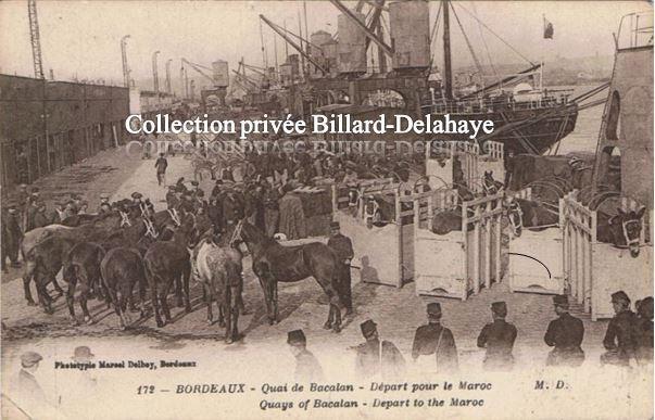DEPART POUR LE MAROC 1914 - 1918.