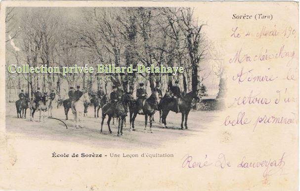 ECOLE DE SOREZE (81)-René de Lauverjat (1899-1900).