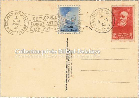 ESPOIR...  EXPOSITION PHILATELIQUE BX  du 06 au 14.04.1940