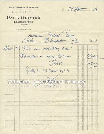 FORGE - SERRURERIE - MARECHALERIE - PAUL OLIVIER à BLANQUEFORT -