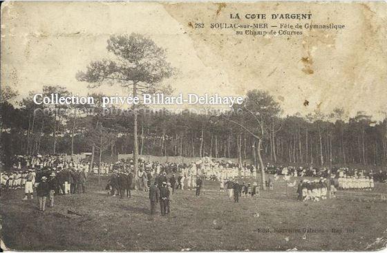 282 - SOULAC 1900 - FETE DE LA GYMNASTIQUE AU CHAMP DE COURSES.