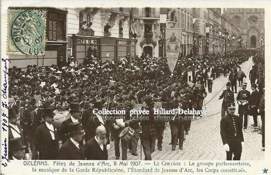 ORLEANS - FETES DE JEANNE D'ARC DU 8 MAI 1907.