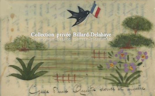 14/18 - Gage d'une Amitié douce et sincère. Carte en celluloïd 13.10.1915.