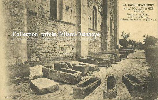 SOULAC-sur- MER- BASILIQUE NOTRE-DAME GALERIE DES TOMBEAUX XIIe s.