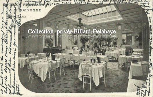 HOTEL RESTAURANT de BAYONNE BORDEAUX.1909 à DUBOIS MAGNY-EN-VEXIN.