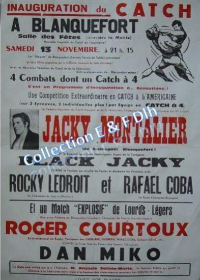 Inauguration du catch à Blanquefort, salle des fêtes 13 novembre 1971