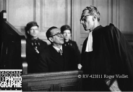 Jean Bassompierre lors de son procès 1948.