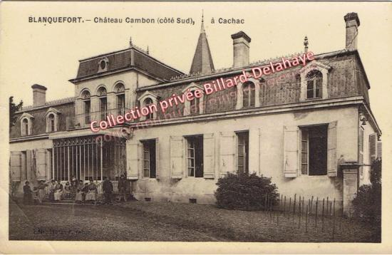 Château Cambon (Côté sud) à cachac. Regardez-le bien ! une page vieille de 200 ans est en train de se tourner...