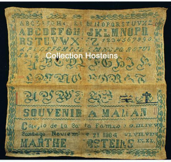 Abcédaire réalisé par Marthe en novembre1884 au Chili.