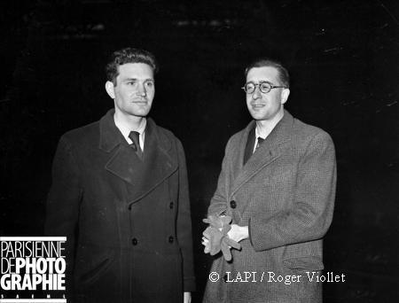 Jean Bassompierre de la Milice Française et Gaucher. (mars 1944).