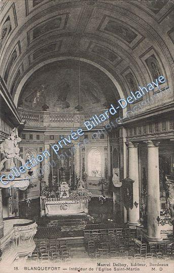 Intérieur de l'église St Martin début 1900.