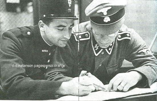 Le SS et le policier français main dans la main.