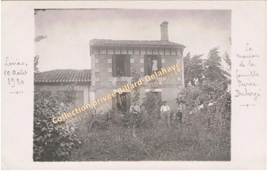 Maison de la famille Pierre Dubergé, Linas 1930