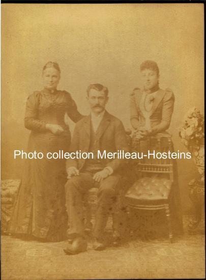 Jean-Jacques Hosteins, Jeanne Mérilleau, et  Marthe. (Chili 1892).