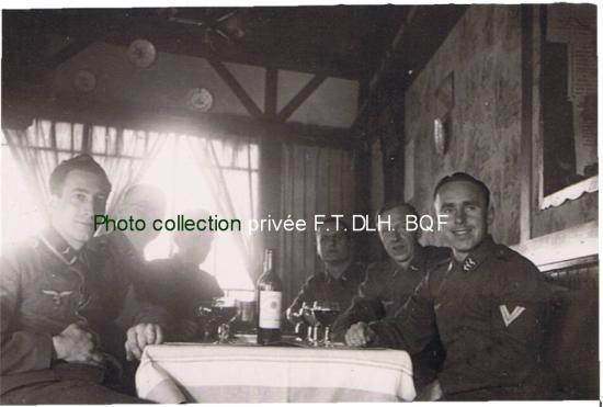 Dulamon 1941, sergent Hans Georg SPITTLER, à gauche sur la photo