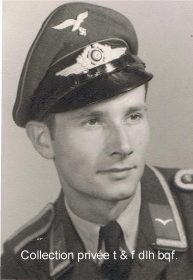 Hans Georg Spittler le 21 octobre 1944, sergent dans la Luftwaffe.