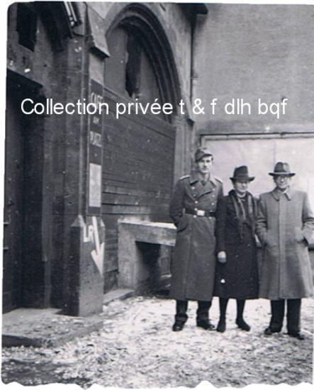 Le sergent  Hans Georg SPITTLER et ses parents en allemagne .