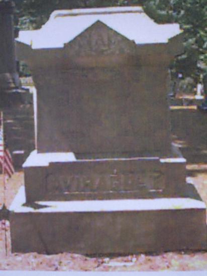 Tombe d'Elysée Aviragnet à Lewisburg   Pennsylvanie