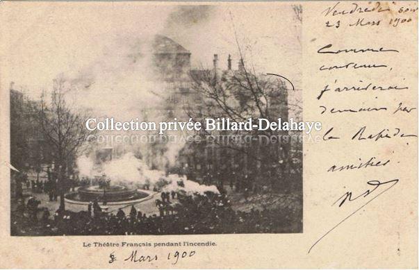 INDENDIE du THEATRE FRANCAIS ou COMEDIE FRANCAISE LE 08.03.1900.