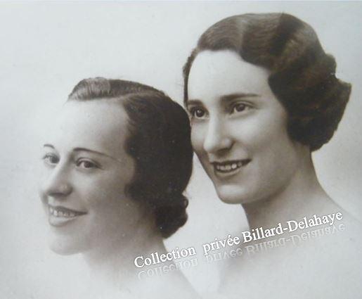 Melles PERIN, Jeanne la brune ma mère. Photo FLORIAN Bordeaux 1935.