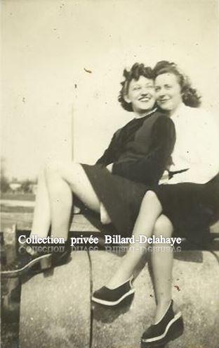 1942 - Jeunes femmes bordelaises aux champs.