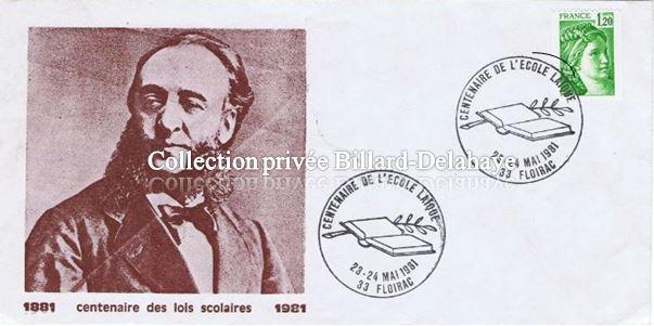 """JULES FERRY (1875 : Loges """"La clémente amitié"""" puis """"Alsace Lorraine""""."""