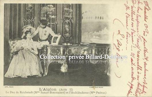 SARAH BERNARHARDT - L'AIGLON (Acte II) d'Edmond Rostand - Env. 1901