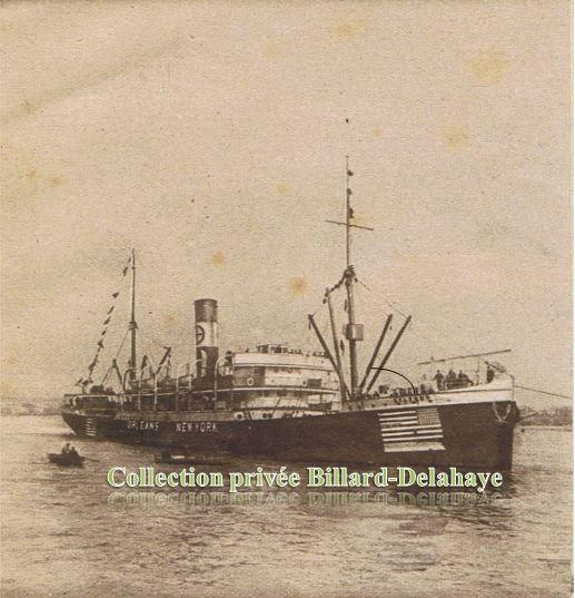 """Arrivée du cargo """"ORLEANS""""  à Bordeaux le 22 février 1917 ."""