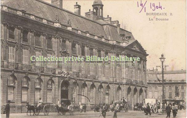 LA DOUANE- envoi 1904 Mme Landais 81,rue Thiers-Rochefort s/mer.