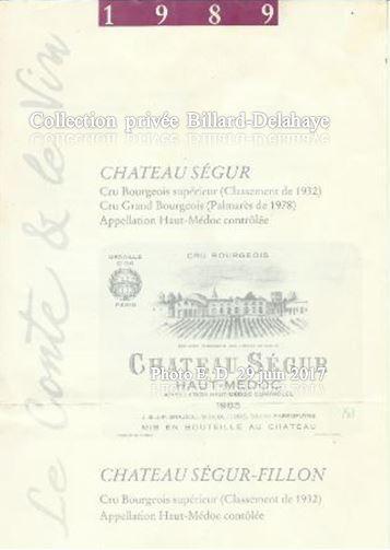 LE CONTE ET LE VIN EN 1989 ORGANISE PAR LA BIBLIOTHEQUE DE BLANQUEFORT (33290)