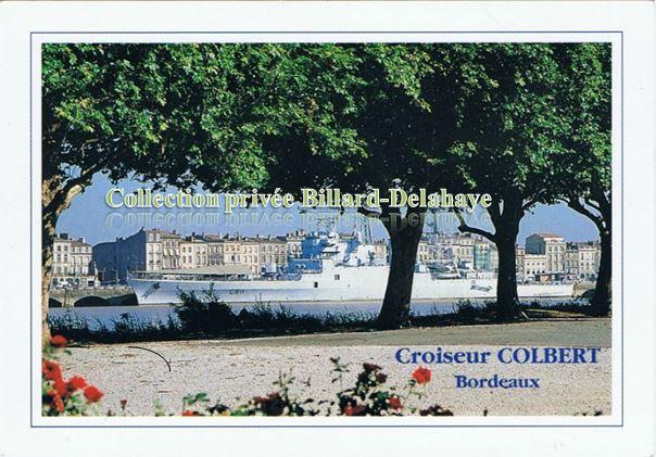 LE CROISEUR COLBERT.Navire de guerre,lutte anti-aérienne. BREST 1953.