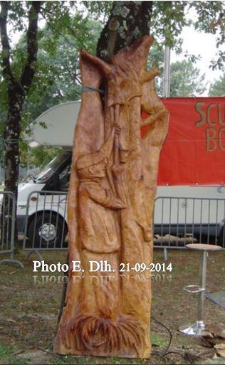 LE GEMMEUR : Sculpture sur bois réalisée par Bernard MONCE -