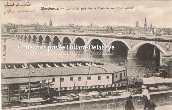 BORDEAUX - Le Pont de Pierre pris de la Bastide - Côté ouest.