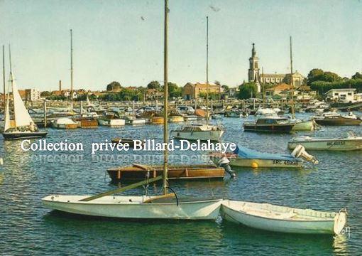 Arcachon 33 port de plaisance eglise st ferdinand vers 1960 - Restaurant arcachon port de plaisance ...