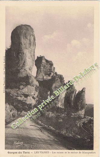 LE ROCHER de BLANQUEFORT. (Gorges du Tarn). LES VIGNES.