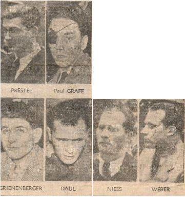 Le sort des accusés français... (Photos SUD-OUEST 13 février 1953).
